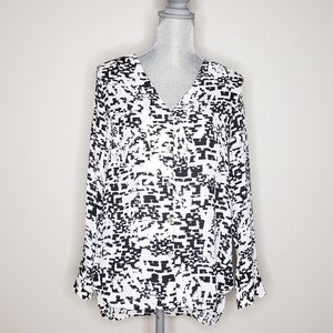 COTTON ON black & white abstract tunic
